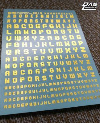 DL C013 Metallic Gold Bokstäver