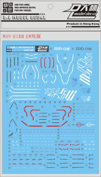 DL W09 för HiRM Wing Gundam EW 1/100